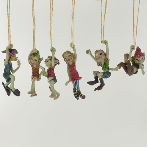 Pixie Swingers Set of 6 Sculptures by Tony Fisher - Prezents.com