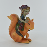 Pixie Racing Squirrel Sculpture by Tony Fisher