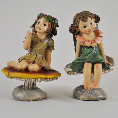 Flower Fairies Sitting on Mushrooms - Prezents.com
