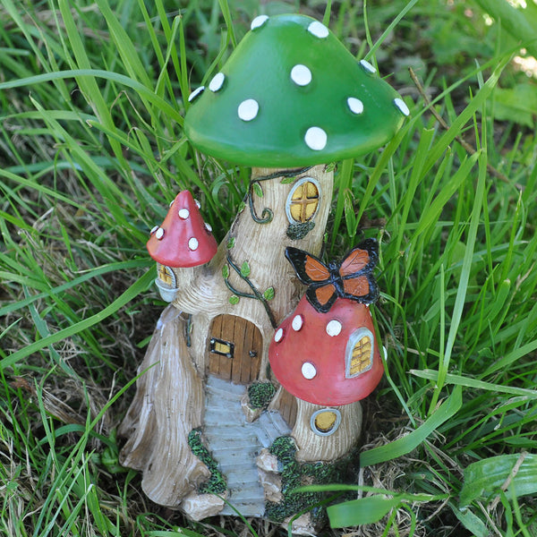Miniature Toadstool House for the Fairy Garden
