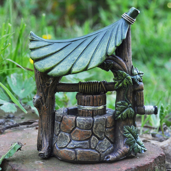Miniature Wishing Water Well for the Fairy Garden - Prezents.com