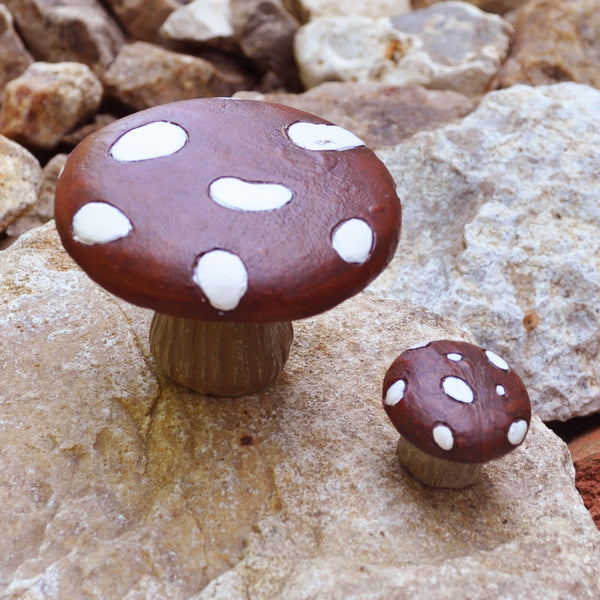 Miniature Red and White Toadstools for the Fairy Garden - Prezents.com