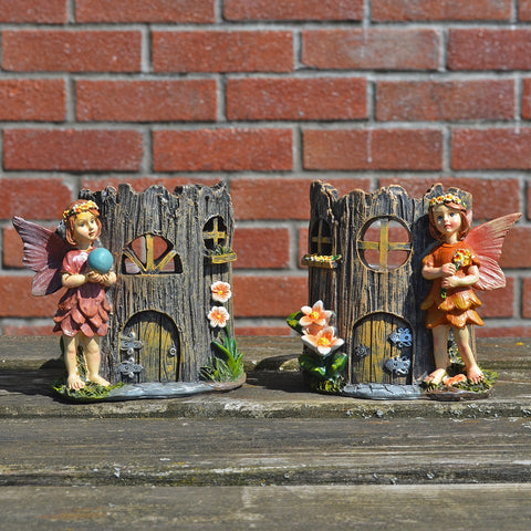 Summer Fairy Tea Light Holder Pair - Prezents.com