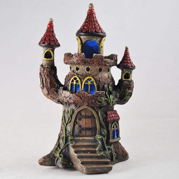 Fairy House - Tree Castle with Lights - Prezents.com