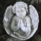 Praying Cherub Angel Wrapped in Wings Sculpture - Prezents.com