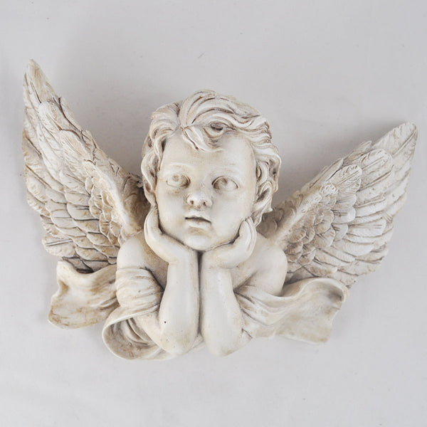 Cherub Angel Resting on Hands Wall Sculpture - Prezents.com