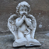 Cherub Angel Praying with Book Sculpture - Prezents.com