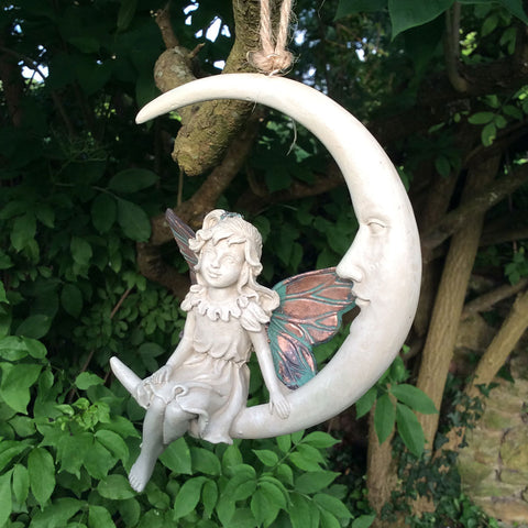 Forest Fairy Dreamcatcher - Faye on the Moon