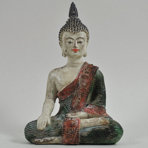 Colourful Sitting Buddha Sculpture - Prezents  - 1