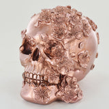 Rose Gold Floral Skull - Prezents.com