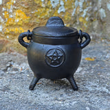Cast Iron Cauldron with Magic Symbols - Small - Three Designs - Prezents.com
