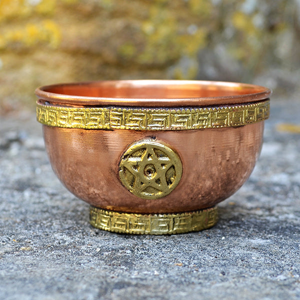 Small Copper Bowls with Magic Symbols - Four Designs - Prezents.com