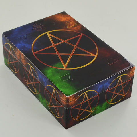 Tarot Card Storage Box - Pentagram Symbols