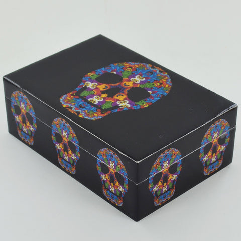 Tarot Card Storage Box - Kaleido Skull
