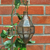 Moroccan Style Hanging Clear Glass Lantern - Prezents.com