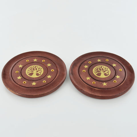 Incense Stick Burner Tree of Life Plate Set of 2 - Prezents.com