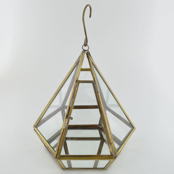 Glass Pyramid Prism Terrarium - Prezents.com