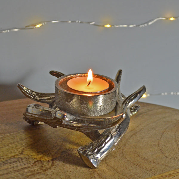 Antlers of Exmoor Single Tea Light Candle Holder