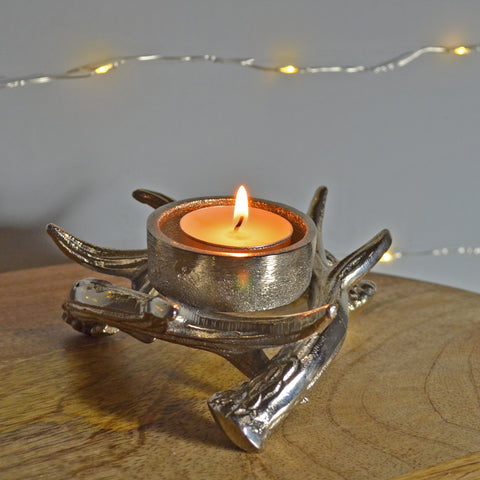 Antlers of Exmoor Single Tea Light Candle Holder - Prezents.com