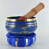 Seven Chakra's - Metal Singing Bowls With Cushion & Mallet H6cm