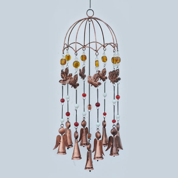Autumn Umbrella Copper Wind Chime - Prezents.com