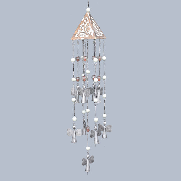 Silver & White Angels Wind Chime