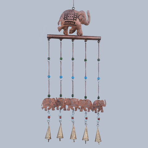 Elephant Bar Copper Wind Chime - Prezents.com