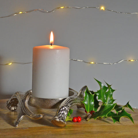 Antlers of Exmoor Pillar Candle Holder