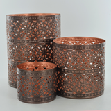 Metal Votives Moroccan Style - Set of 3