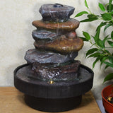 Indoor Water Fountain Stone Tower With LED Light - Prezents.com