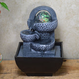 Indoor Water Fountain Grey Pots with LED Ball - Prezents.com