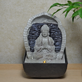 Indoor Water Fountain Buddha Stone Cascade
