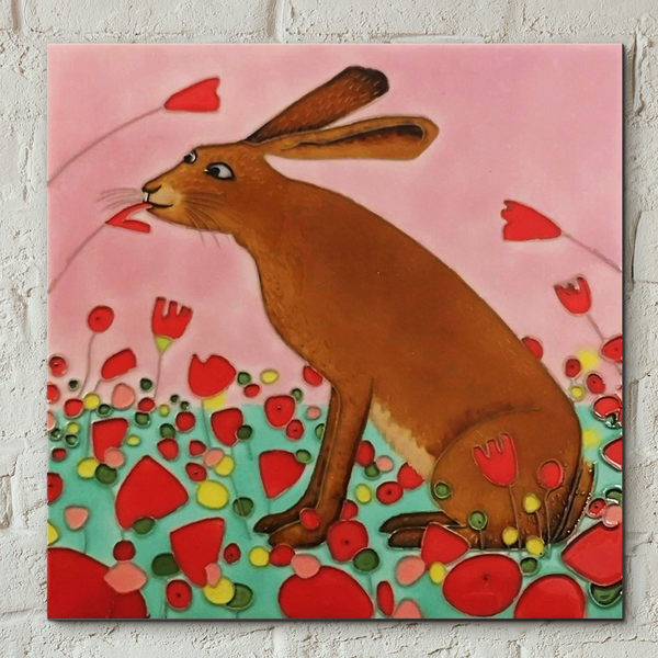 Hoppity Poppity Decorative Ceramic Tiles By Ailsa Black