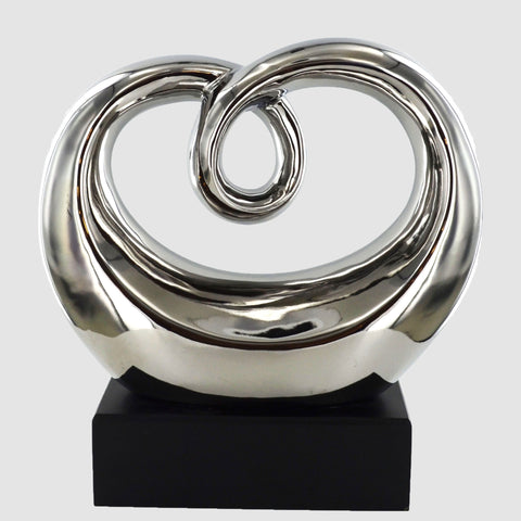 Silver Ceramics Heart Sculpture - Prezents.com