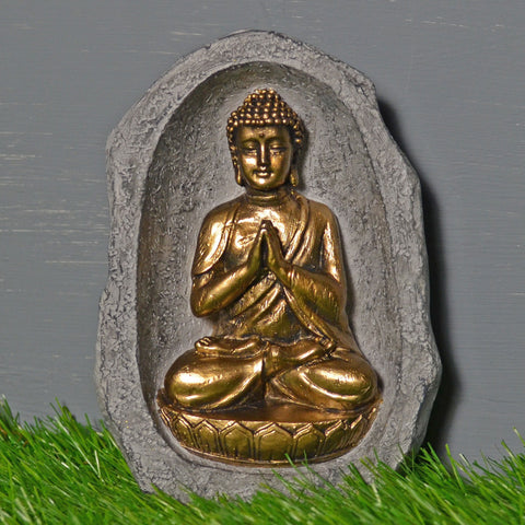 Sitting Buddha in Stone Sculpture
