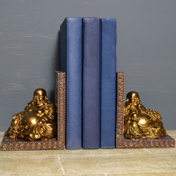 Happy Buddha Bookends - Prezents.com