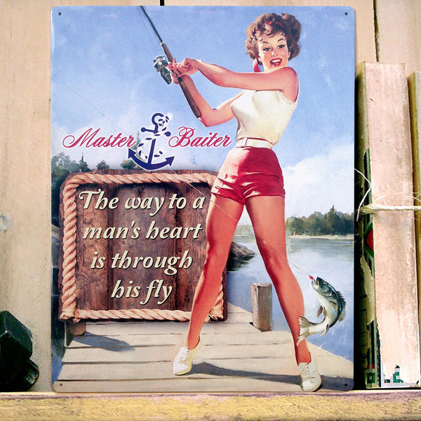 Master Baiter Metal Sign - Prezents