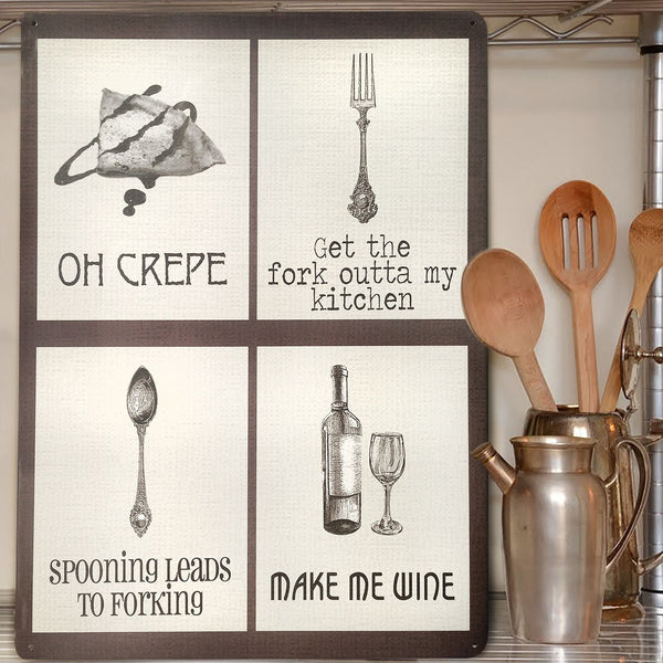 Funny Word Play Mix Cooking Metal Sign - Prezents.com