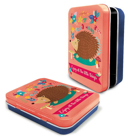 Woodland Hedgehog Metal Keepsake Tin