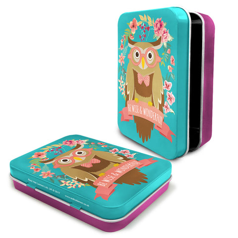 Woodland Owl Metal Keepsake Tin