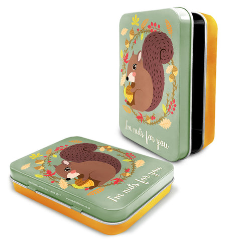 Woodland Squirrel Metal Keepsake Tin