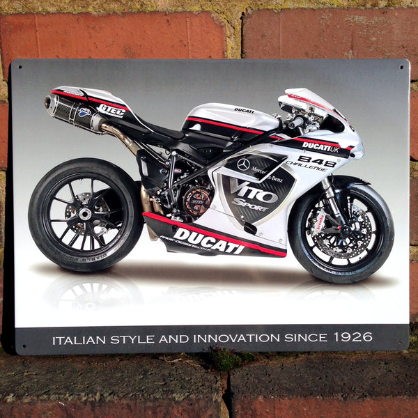 Ducati 848 Evo Metal Sign - Prezents.com