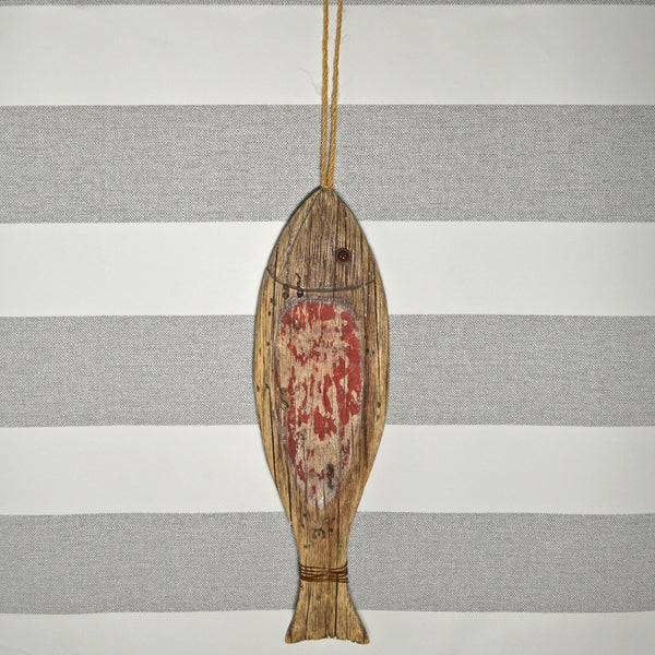 Nautical Hanging Wood Fish