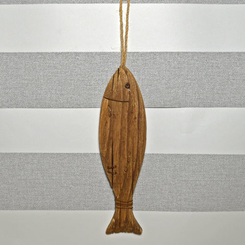 Nautical Hanging Wood Fish- Large