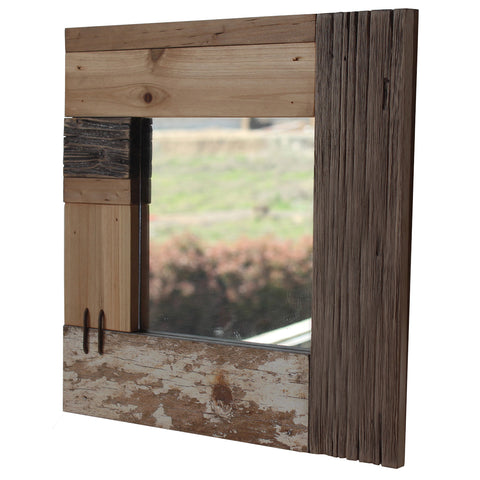 Driftwood Square Wall Mirror
