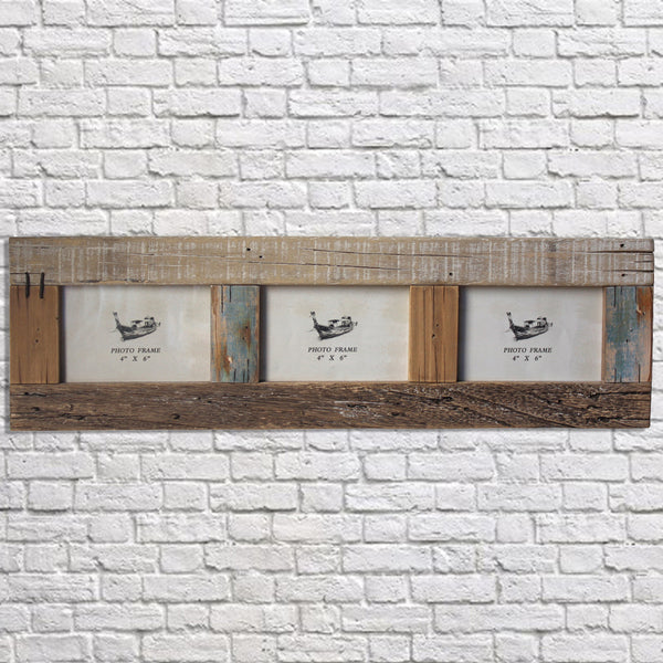 Driftwood Triple Picture Frame