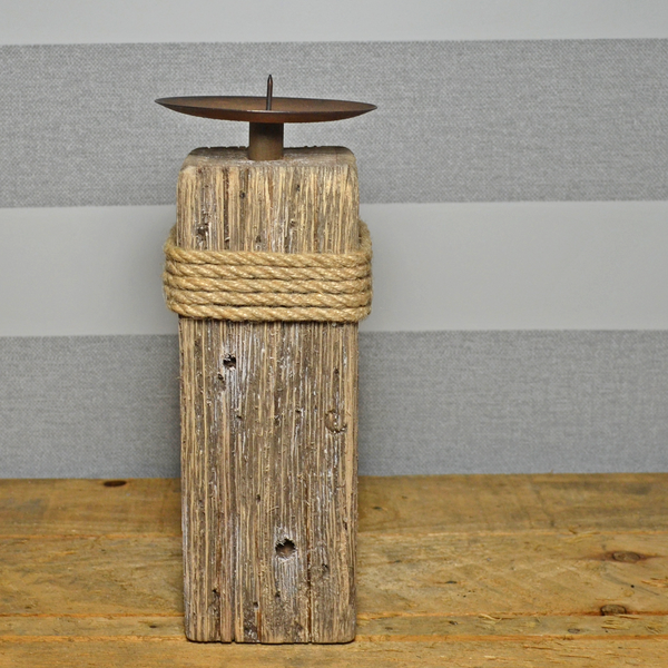 Nautical Pillar Candle Holder- Small