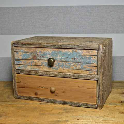 Nautical Two Draw Desk Storage