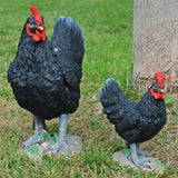 Black Chicken Garden Ornament- Two Sizes - Prezents.com