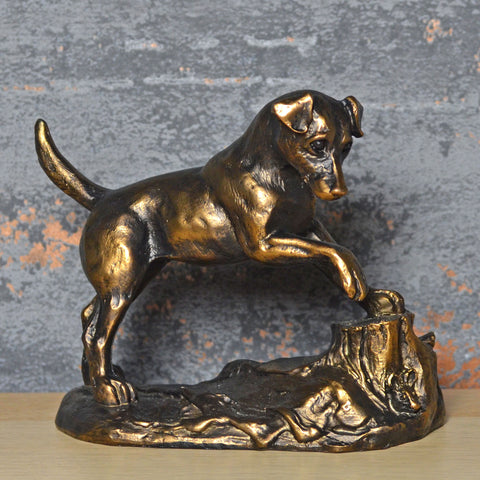 Jack Russell Bronze Effect Sculpture by Harriet Glen - Prezents.com